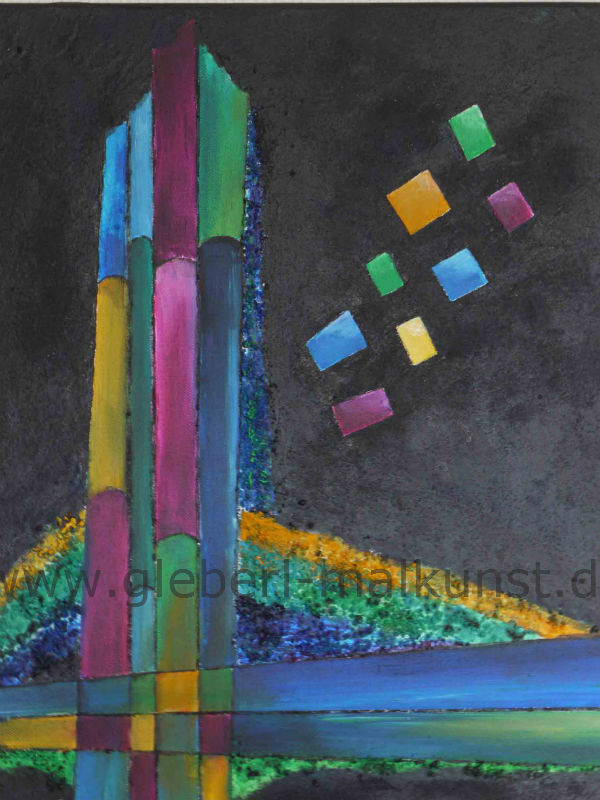 Colours at Night, Acryl-Mischtechnik, 40 x 50 cm, € 180.-